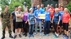 Die Lüneburger Teilnehmer des Partnerschaftslaufs Köthen-Lüneburg 2018. Foto: Hansestadt Lüneburg